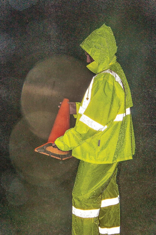 Global Glove GLO-8000 - FrogWear HV - 3-Piece High-Visibility Rain Suit - 3X-Large