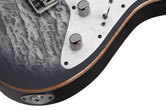 Amazon.com: Schecter 7 String Solid-Body Electric Guitar Charcoal Burst 1998: Musical Instruments