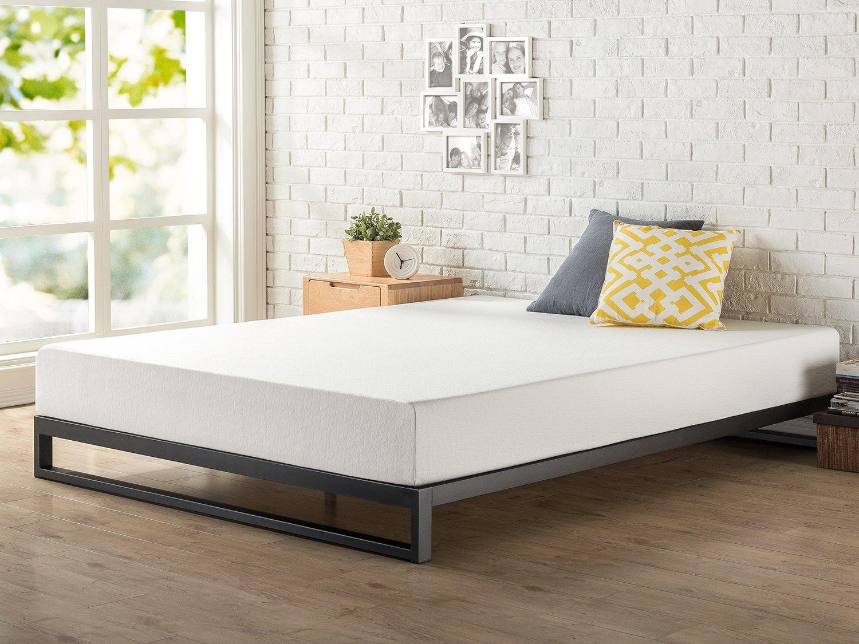 Zinus 7 Inch Heavy Duty Low Profile Platforma Bed Frame, Mattress Foundation, Boxspring Optional, Wood Slat Support, Twin