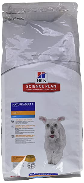 HillS C-13364 Light Mini, Alimento Seco para Perros de +7 Años -