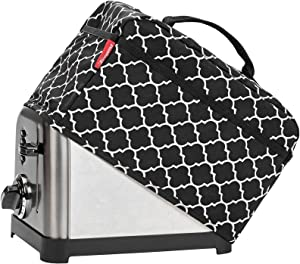 NICOGENA Toaster Dust Cover with Handle Compatible with Cuisinart 2 Slice Toaster, Dust and Fingerprint Protection,Pockets for Accessories, Lantern Black