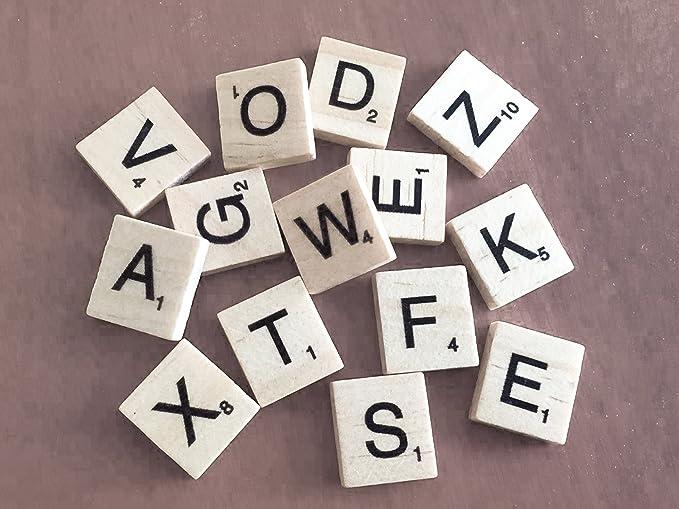 Pick n mezcla madera para Scrabble letras Set para Juegos de mesa, decoración de la pared & artes y artesanías por Trimming Shop, madera, Lote de 60: Amazon.es: Hogar