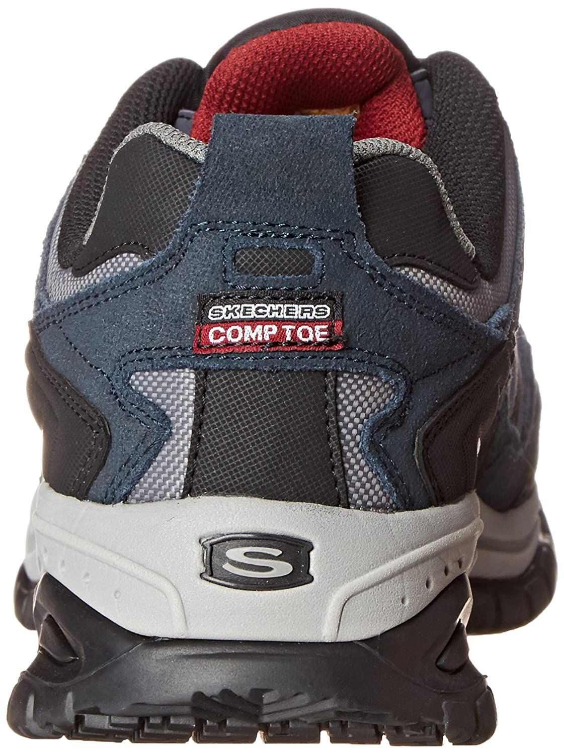 Amazon.com | Skechers Mens Work Relaxed Fit Soft Stride Grinnel Comp, Navy/Gray - 13 E US | Walking