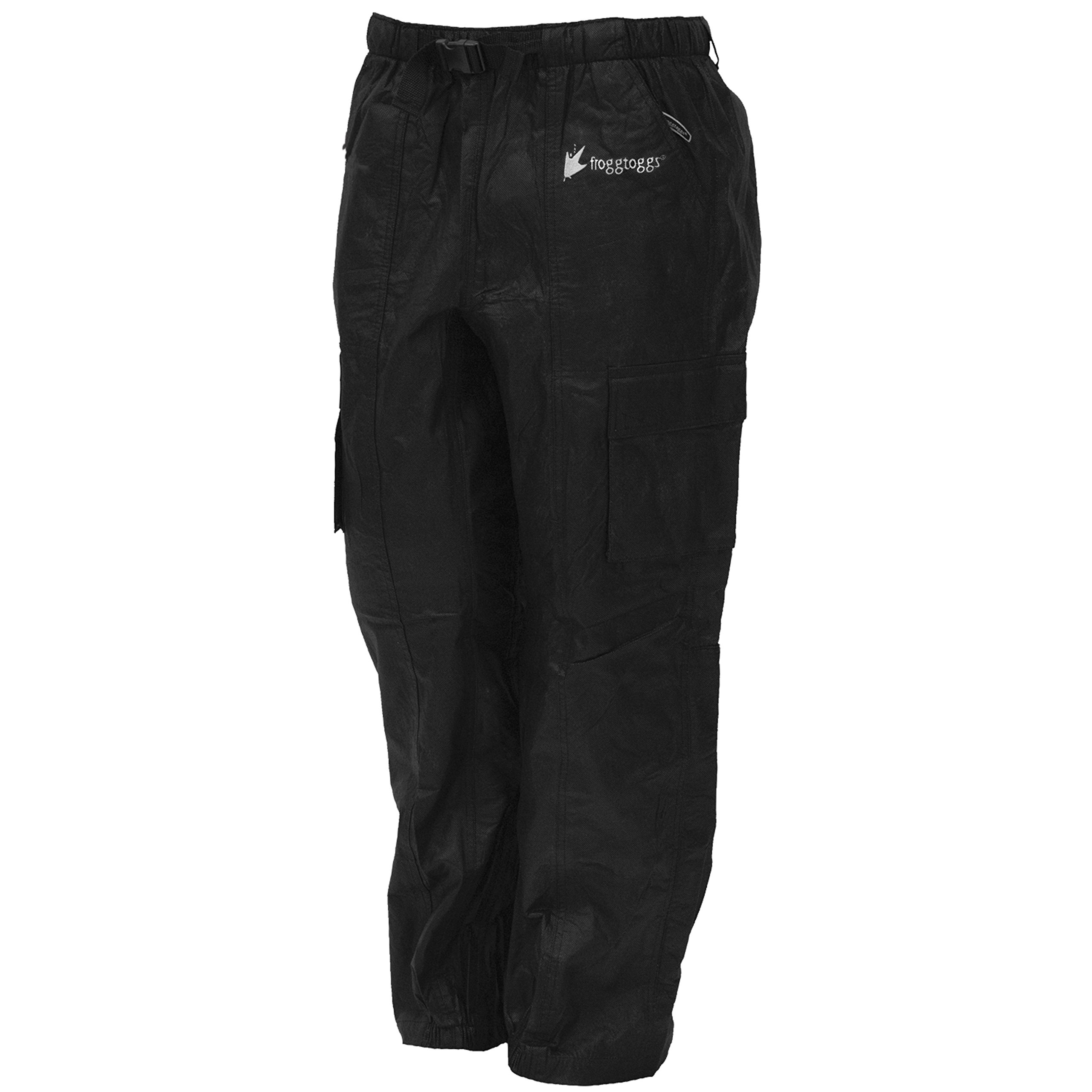 Frogg Toggs Men's Tekk Toad Pant, Black, Large