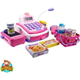 CifToys Cashier Toy Cash Register Playset   Pretend Play Set For Kids   Colorful Children's Supermarket Checkout Toy With Microphone & Sounds   Ideal Gift For Toddlers & Pre-Schoolers