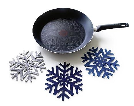 6 piezas de salvamanteles y sartén Decoración – La mesa – Set de protecciones para invierno