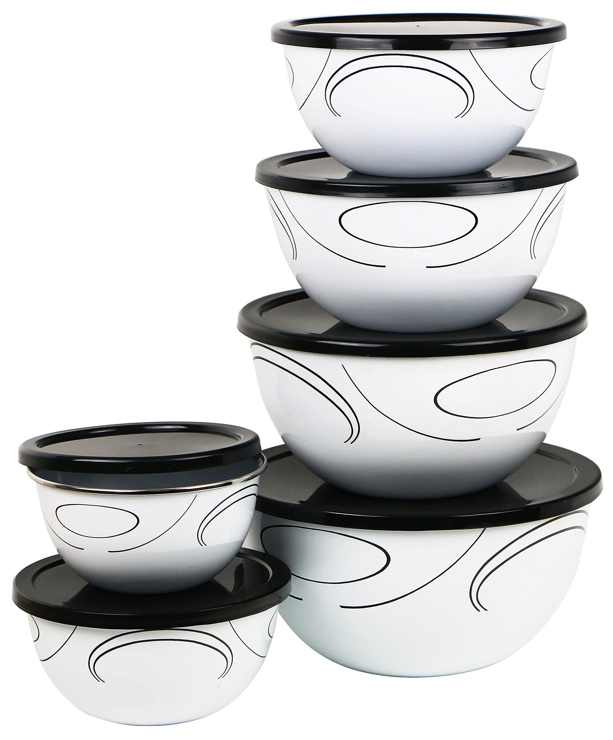 Corelle Coordinates 12-Piece Large Bowl Set, Simple Lines by Reston Lloyd