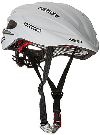 Nesta Fabel Aero Casco de Ciclismo, Unisex Adulto, Blanco Mate, Talla Única