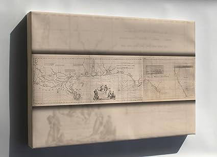 Map Florida Panhandle.Amazon Com Canvas 16x24 Map Of Louisiana Florida Panhandle 1781