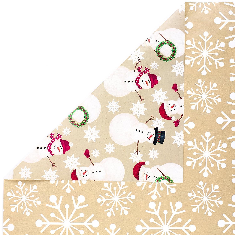 Amazon.com: Hallmark Reversible Christmas Wrapping Paper Bundle ...