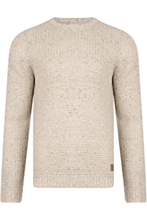 ef9ddd55b46832 Threadbare Mens Copenhagen Designer Textured Crew Neck Sweater Knitted  Jumper