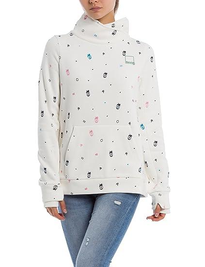 Bench Damen Sweatshirt Her. Funnel Print Overhead