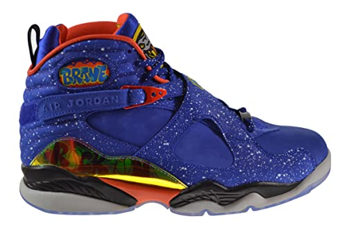 1d3c2789fc37 ... Jordan Air 8 Retro Doernbecher Mens Shoes Hyper Blue Electro  Orange-Black 729893 ...
