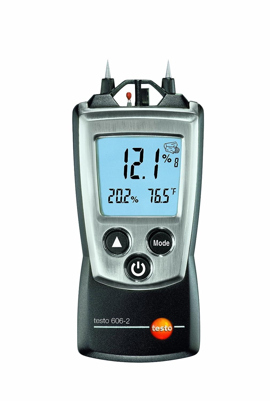 Testo 0560 6062 606-2 handliches Holz-//Materialfeuchte-Messger/ät mit integrierter Feuchte-Messung und NTC-Luft-Thermometer inklusive Schutzkappe