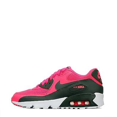 Nike Air Max 90 Mesh Older Kids' Shoe (UK 5.5) PinkGrey
