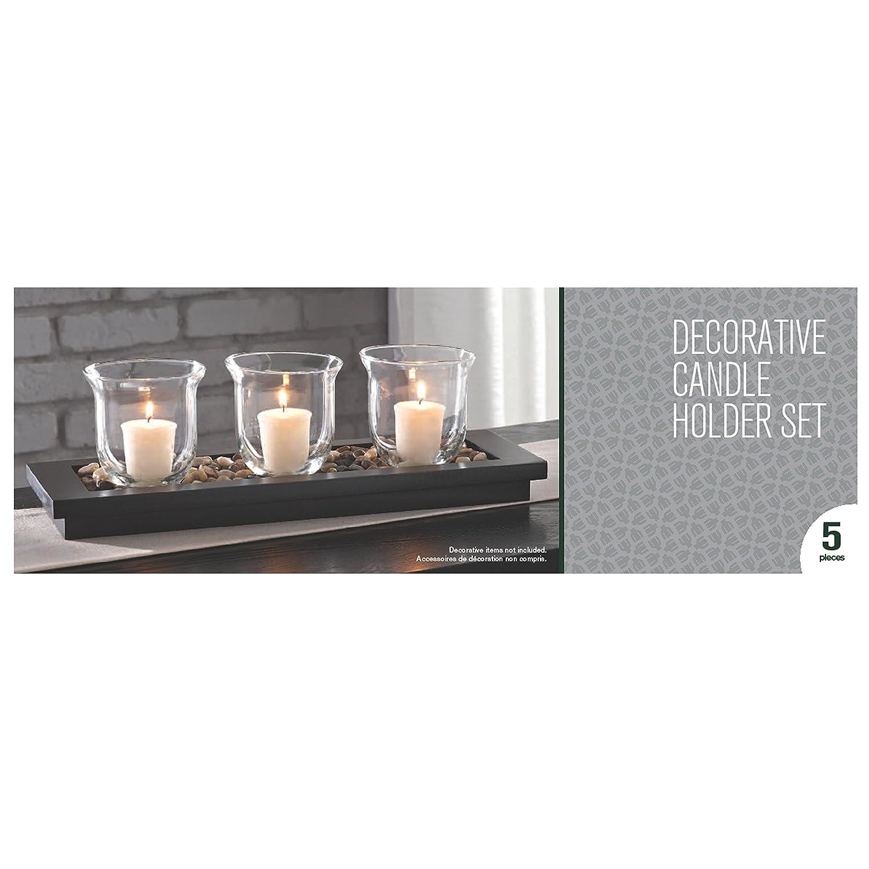 Decorative candle holder set pieces quot long table decor