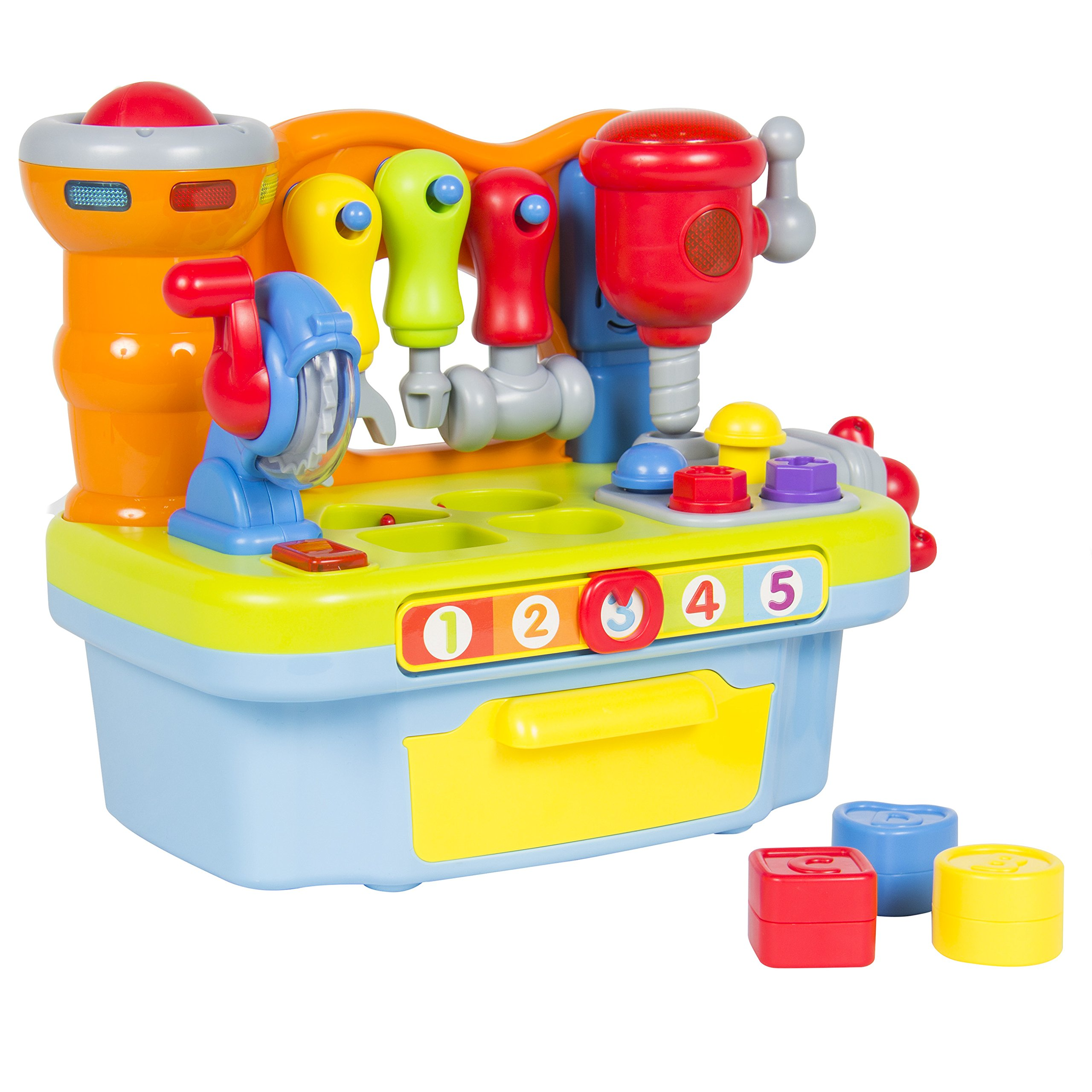Best Choice Products Musical Learning Pretend Play Tool Workbench Toy, Fun Sound Effects & Lights by Best Choice Products (Image #2)