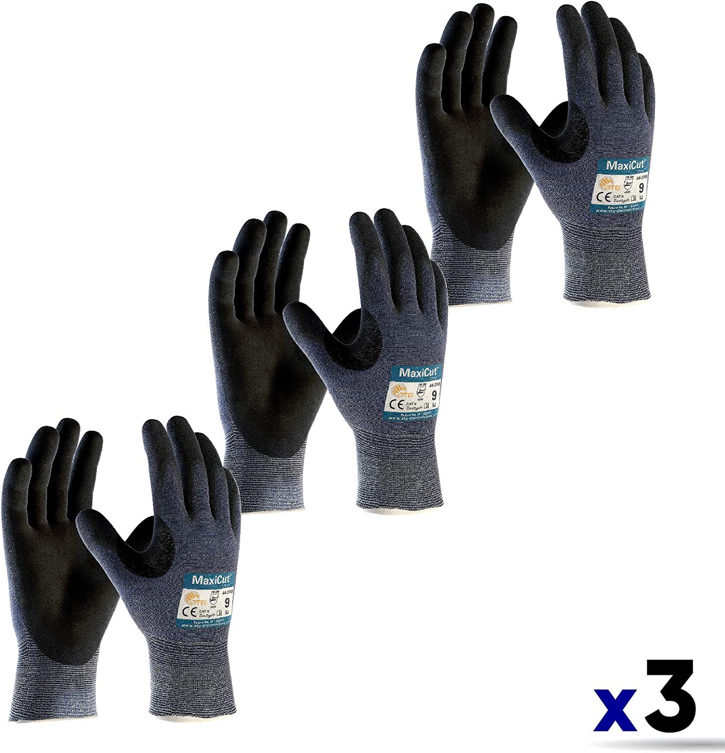 ATG MAXIFLEX CUT RESISTANT GLOVES 1Pair Silicone Free GREEN Size 7,8,9,10 Or 11