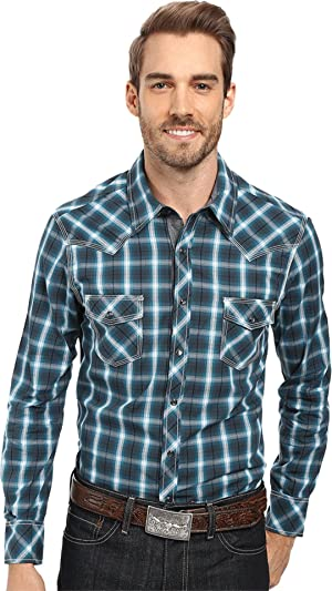 Rock and Roll Cowboy Men's Long Sleeve Snap B2S8411
