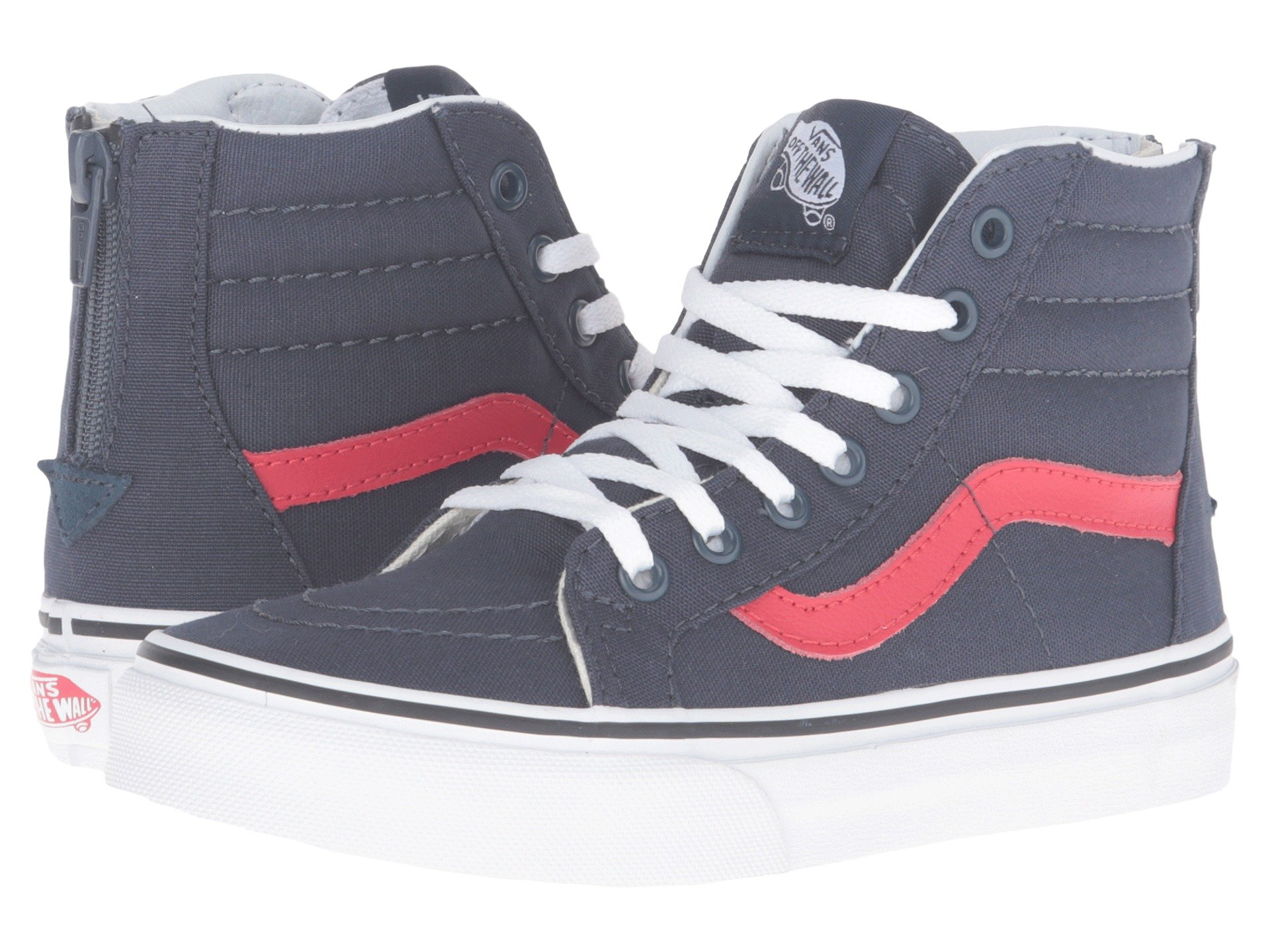 eb4184cf59 VANS Kids Sk8-Hi Zip (Varsity) Navy/True White VN000W9WJSM Youth 11