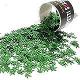 """Confetti Marijuana Leaf 3/8"""" Green - Retail Pack #9713 QS0"""