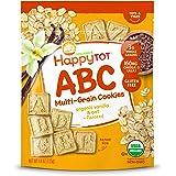 Happy Tot Organics ABC Multi-Grain Cookies, Vanilla & Oat + Flaxseed, 4.4 Ounce (Pack of 8)