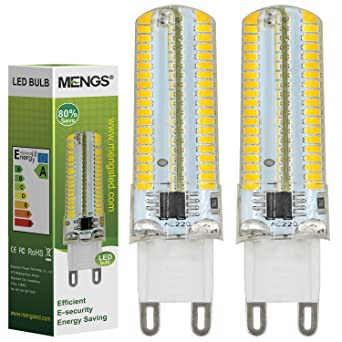 MENGS® Pack de 2 Regulable Bombilla lámpara LED 7 Watt G9, 152x 3014 SMD