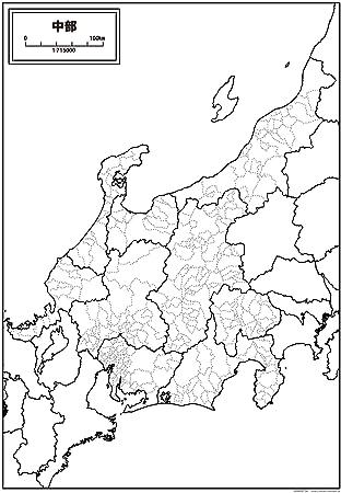 地方 地図 中部