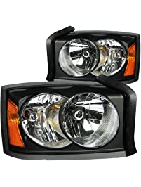 Anzo USA 111105 Dodge Dakota Black Clear Headlight Assembly - (Sold in Pairs)