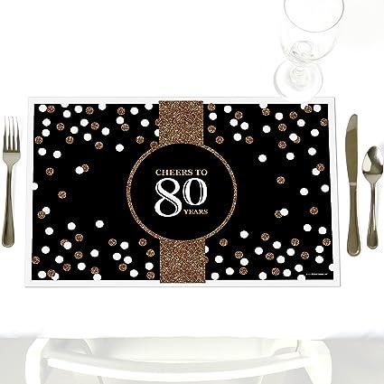 Amazon.com: Adultos 80th Cumpleaños – Oro – Fiesta de ...