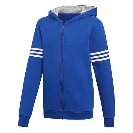Adidas Sports ID Full Zip Hood Sudadera con Capucha de, Niños, DI0174, Azul