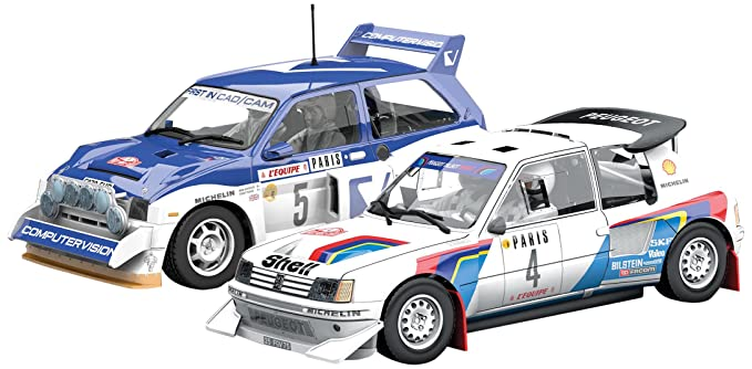 Scalextric Classic Collection Peugeot 205 T16 & MG Metro 6R4 Twin-Pack Slot Car (