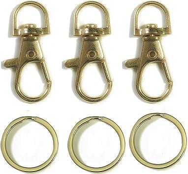 10PCS Lobster Swivel Clasps Clips Bag Key Ring Hook Jewelry Findings Key chainXJ