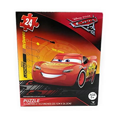 Cars Disney Pixar 3 Lightning McQueen - 24 Piece Puzzle v4: Toys & Games