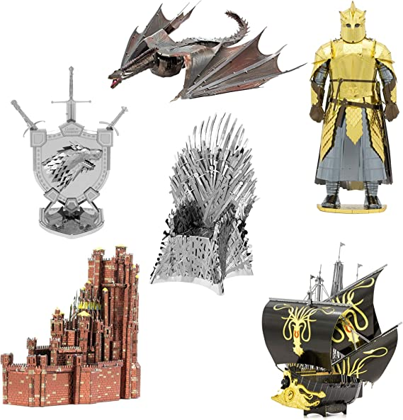 Metal Earth Iconx Game Of Thrones The Mountain Steel Model Kit NEW