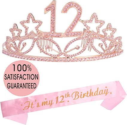 Rose Gold Birthday Girl Crown Party Decorations Alloy Crown Wedding Decor Hot