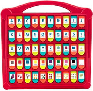 "Battat – Hide & Seek Alphabet Pop-Up – 50 Shapes Colors Letters Numbers – Learning Toys for Toddlers – Phthalates & Bpa Free, Red - Lime - Sea - Coral, 13"" (Large) x 11.6"" (W) x 1.5"" (H) (BT2532Z)"