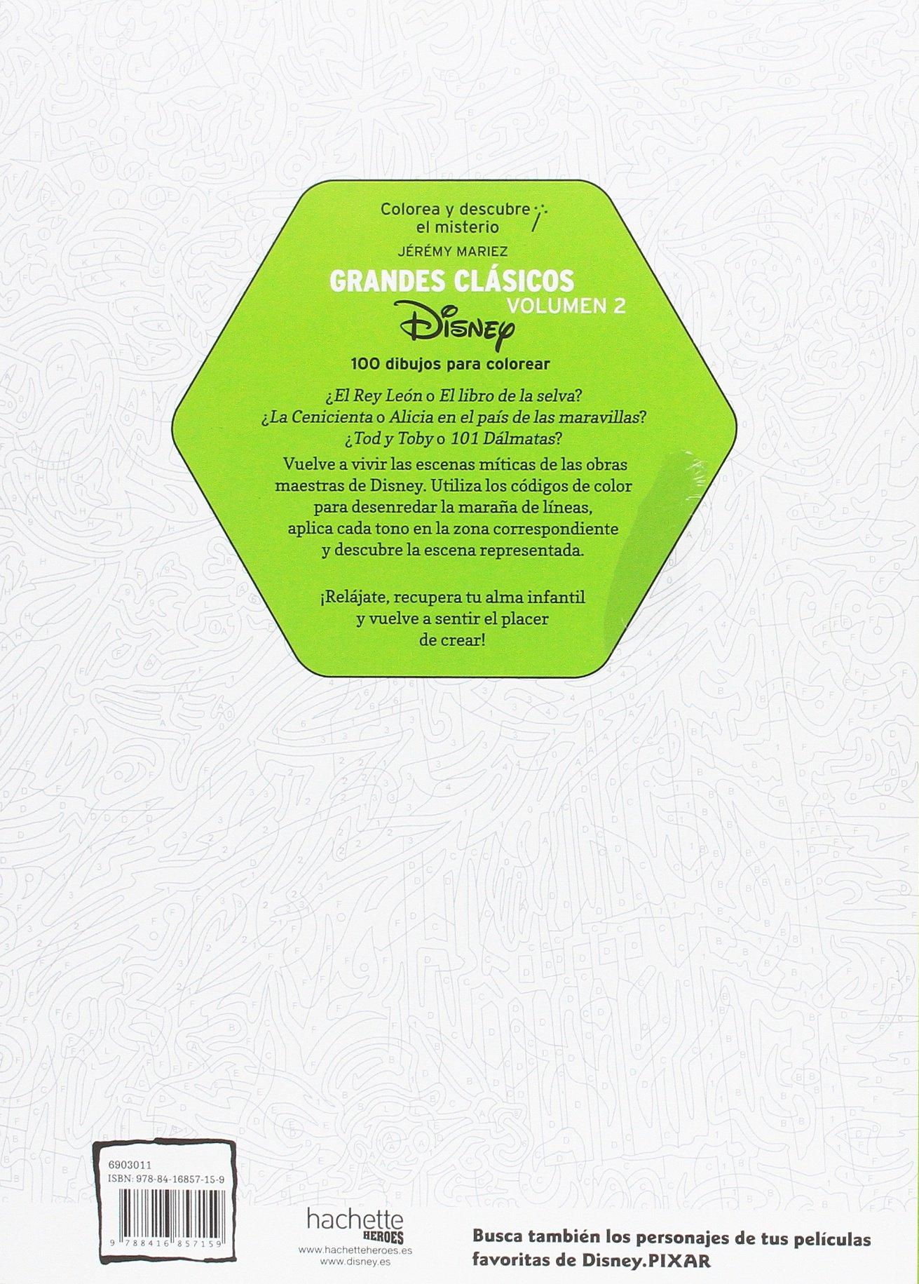 Colorea y descubre el misterio. Grandes clásicos Disney Volumen 2 ...