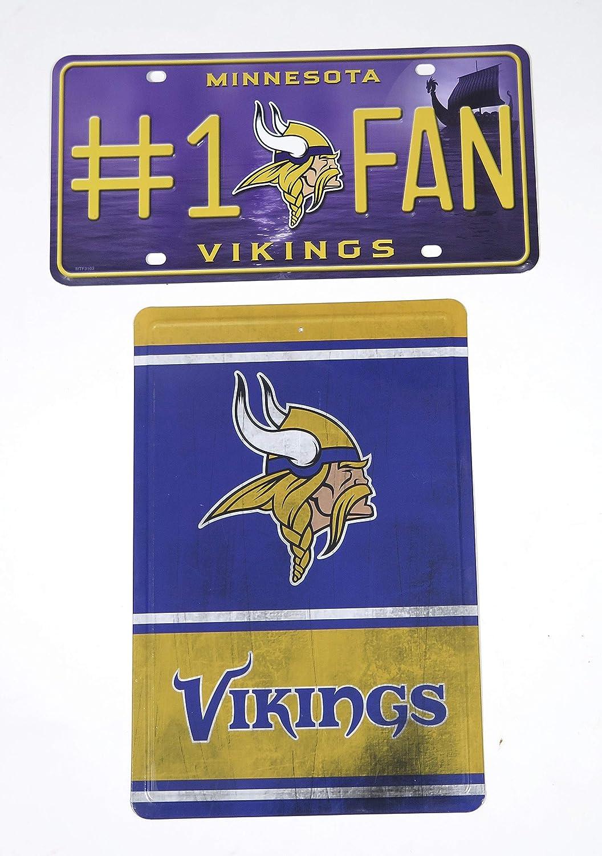 Minnesota Vikings Set of 2 Steel Sign.