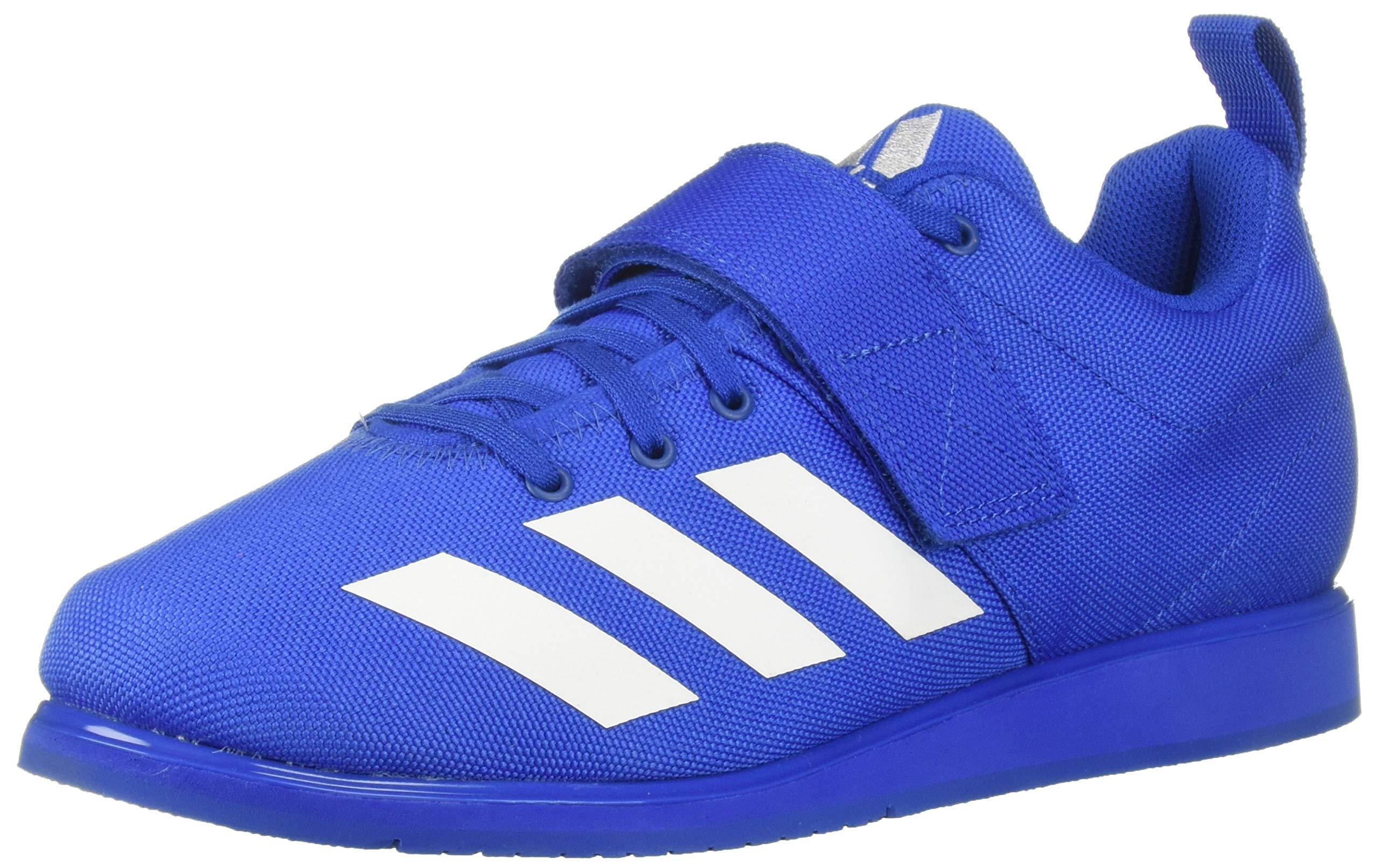 adidas Men's Powerlift 4, White/Blue, 4 M US