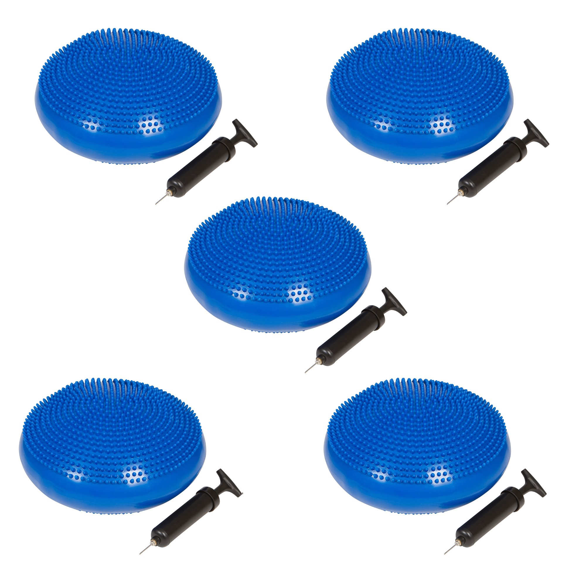 Trademark Innovations PVC Fitness and Balance Disc - 13-Inch Diameter - Set of 5 - (Blue)