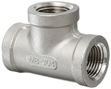 1//2 NPT Male X 1//2 NPT Female MSS SP-114 Stainless Steel 304 Cast Pipe Fitting 90 Degree Street Elbow