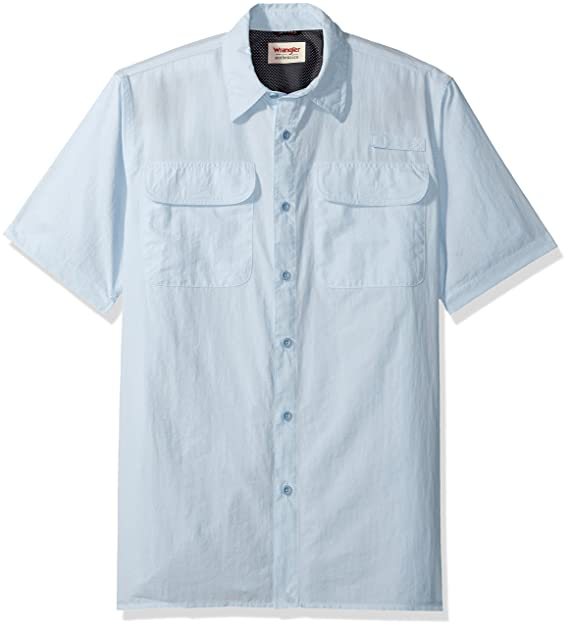 7118bd4370c Wrangler Authentics Men s Short-Sleeve Utility Shirt at Amazon Men s ...