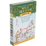 Magic Tree House Boxed Set, Books 13-16: Vacation Under the Volcano, Day of the Dragon King, Viking Ships at Sunrise, and Hou