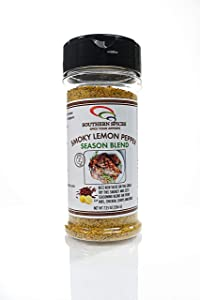 Smoky Lemon Pepper Seasoning Blend, Zesty Seasoning, Cajun Garlic, Southern Spices, 7.25 oz
