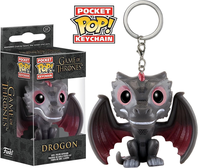 Amazon.com: Funko Pocket Game of Thrones - Llavero de Drogon ...