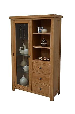 Canton Oak Glass Display Cabinet
