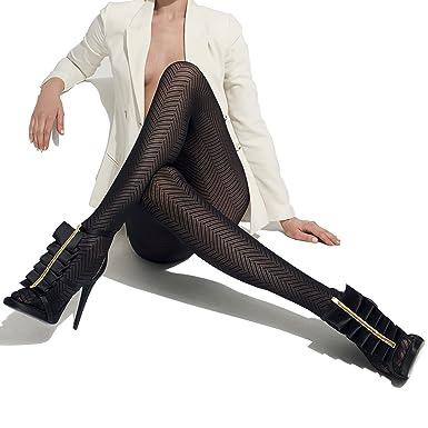 250a90b0f99 Lang Fashion Tights Color  Nero - Black Size  4 (X-Large)  Amazon.co.uk   Clothing