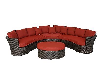 Cool Amazon Com Creative Living 10093339 Antigua 4Pc Curved Ibusinesslaw Wood Chair Design Ideas Ibusinesslaworg