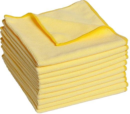 9 opinioni per Set da 10 panni microfibra, panni di pulizia, 40x40 cm. Sono panni multiuso
